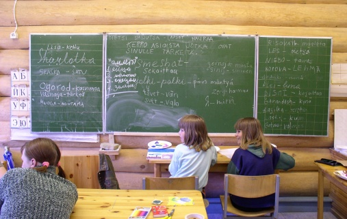 The Village school of Vuokkiniemi, Russian Karelia.